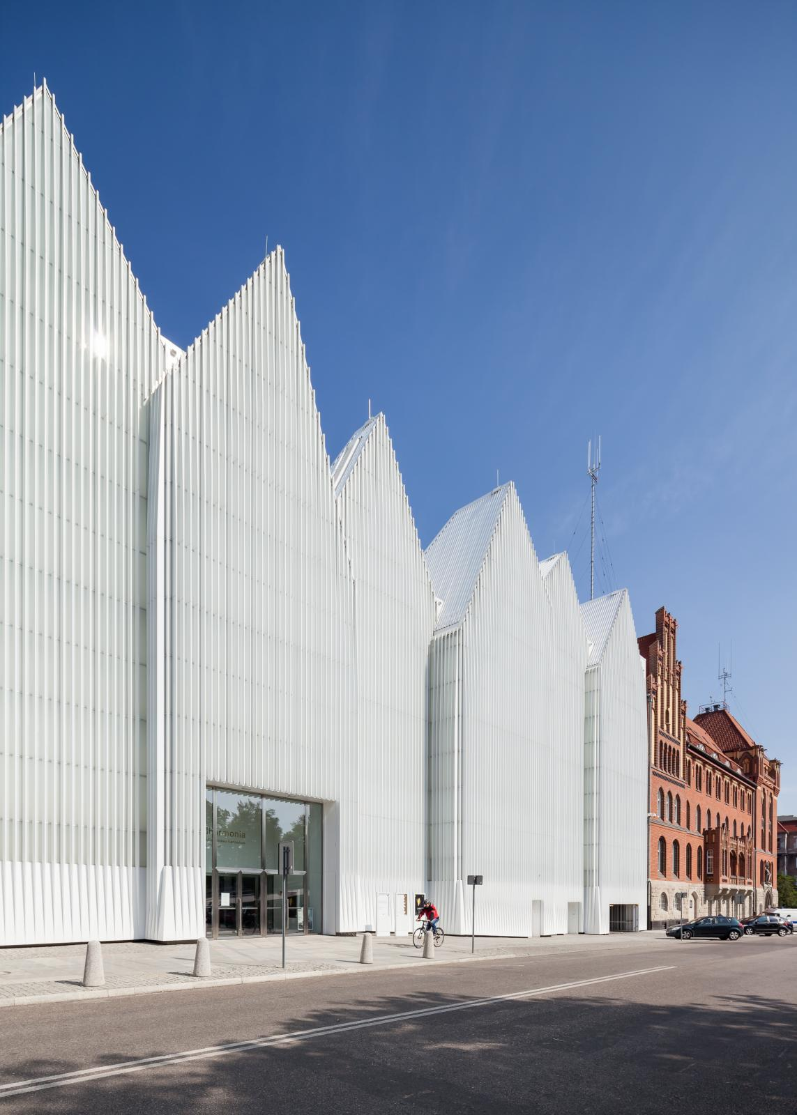 Photograph of Szczecin Philharmonic Hall, designed by Estudio Barozzi Veiga and located in Szczecin, Poland