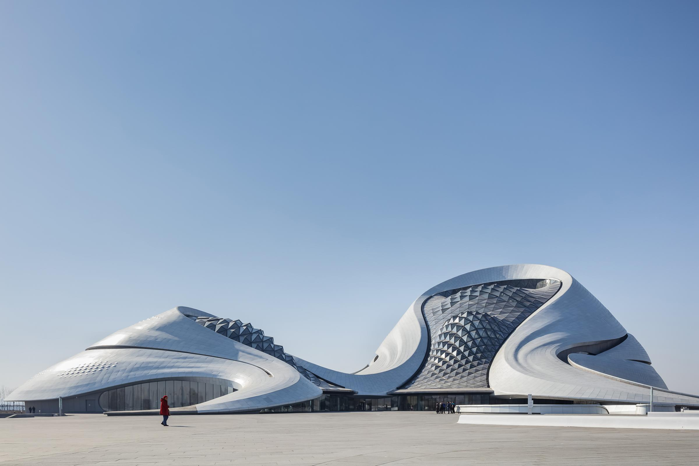 Photograph of Harbin Opera House, designed by MAD Architects and located in Harbin, China