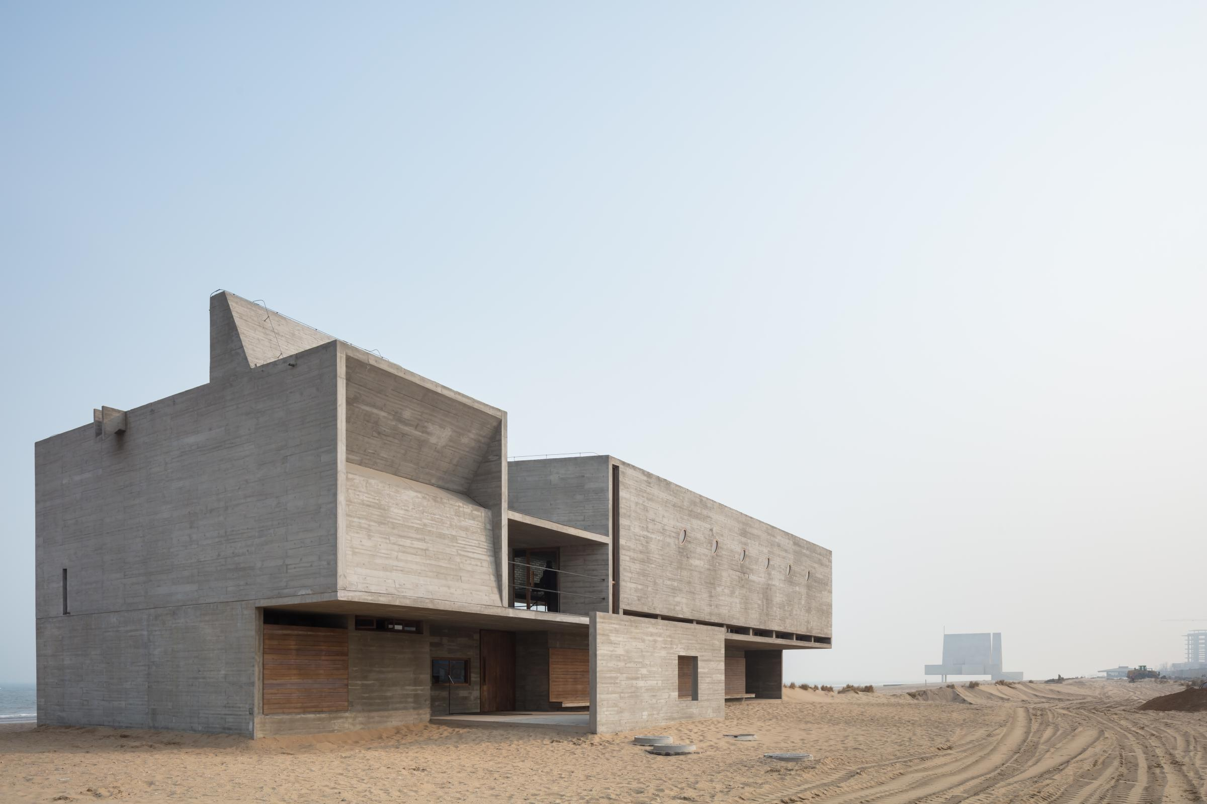 Photograph of Seashore Library, designed by Vector Architects and located in Beidaihe, China