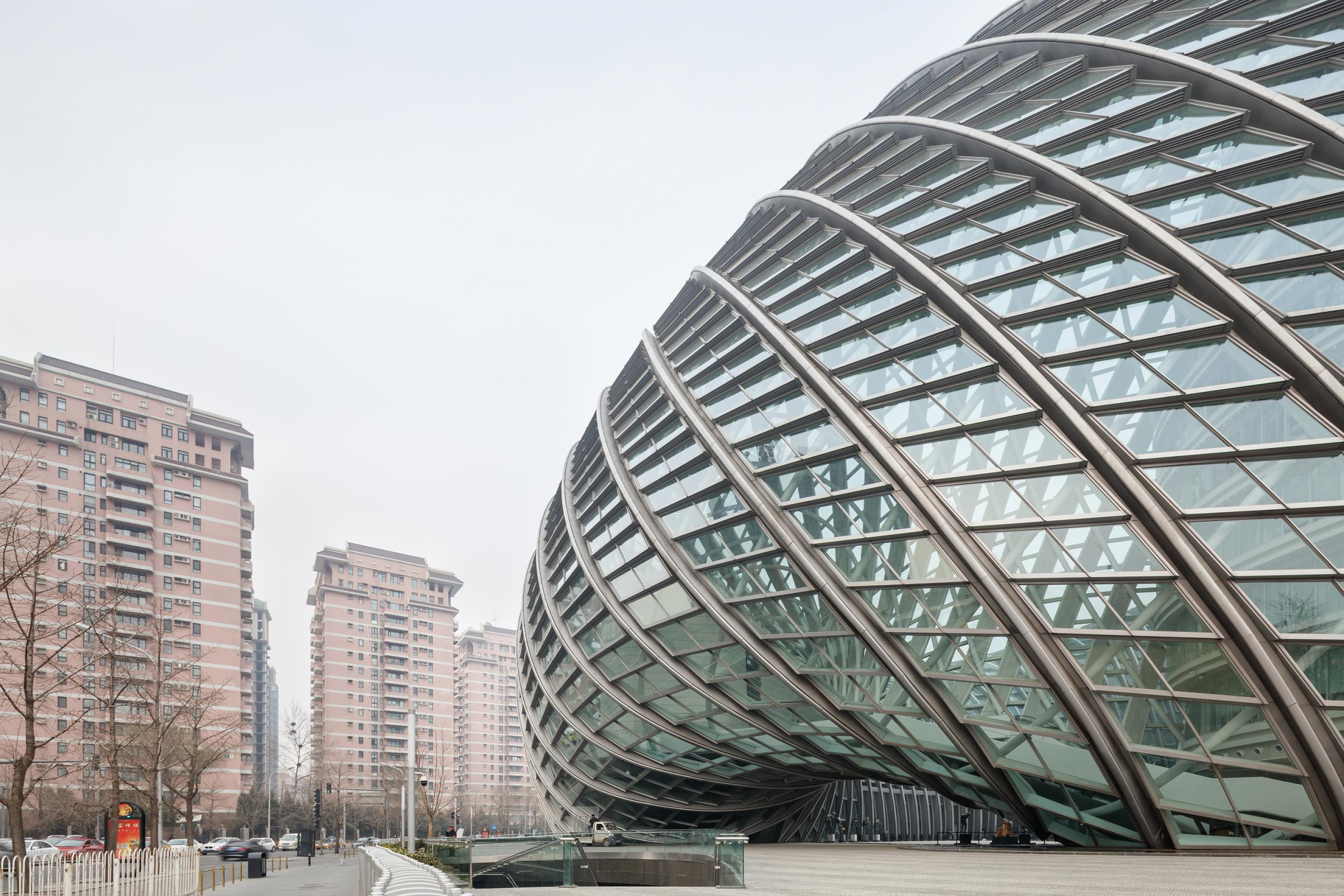 Photograph of Phoenix International Media Center, designed by BIAD UFo and located in Beijing, China