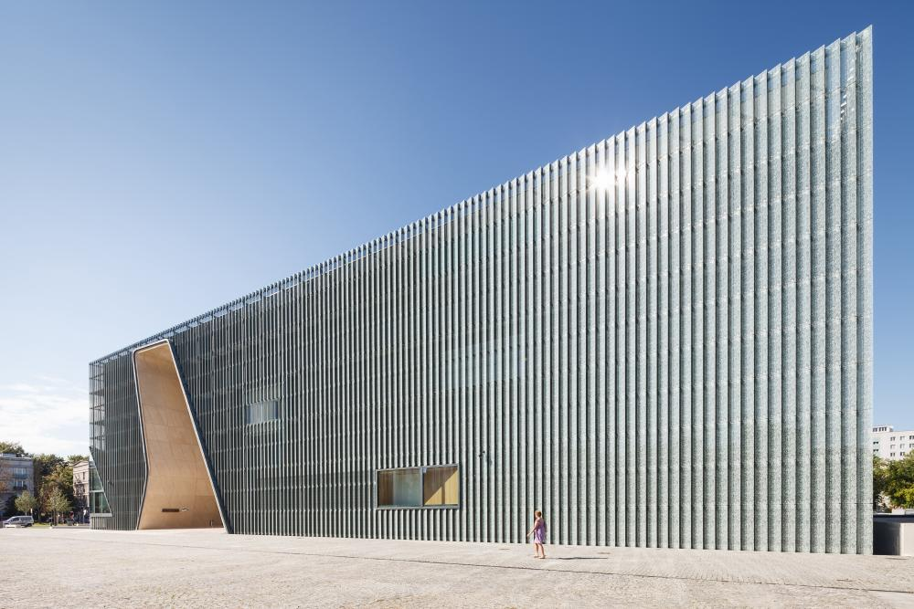 Cover photo of image set from POLIN Museum of the History of Polish Jews, designed by Lahdelma & Mahlamäki Architects and located in Warsaw, Poland. All photos by Pawel Paniczko Architectural Photography